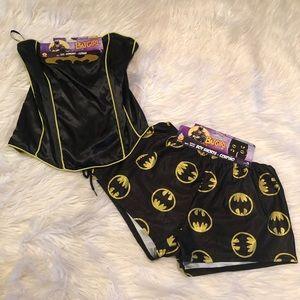 Batgirl corset and shorts costume